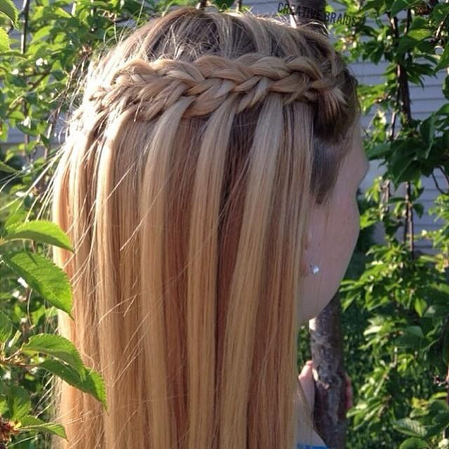 Faux Waterfall Hairstyles for Little Girls