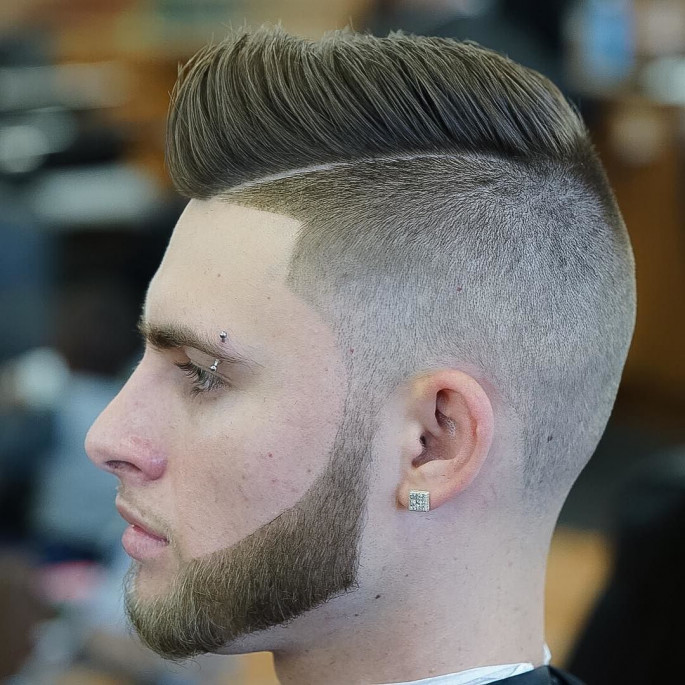 Front Line Fade Short Cool & Stylish Hairstyles for Men