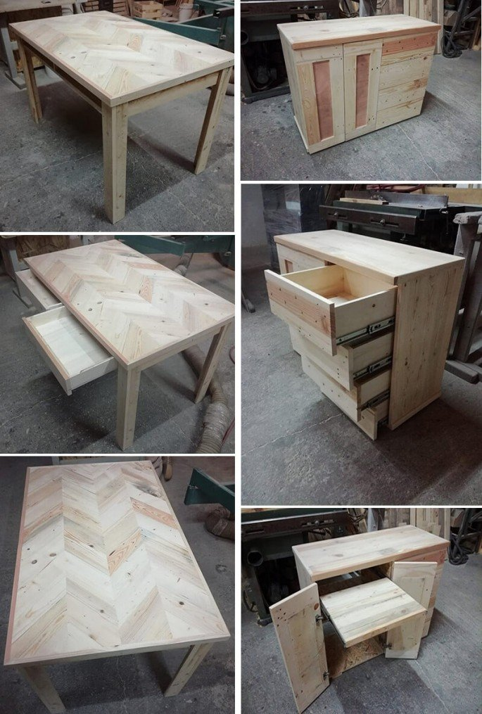 New King Size Pallet Wood Dining And Computer Table