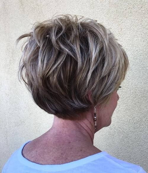 Short Textured Hairstyles for Women Over 50s