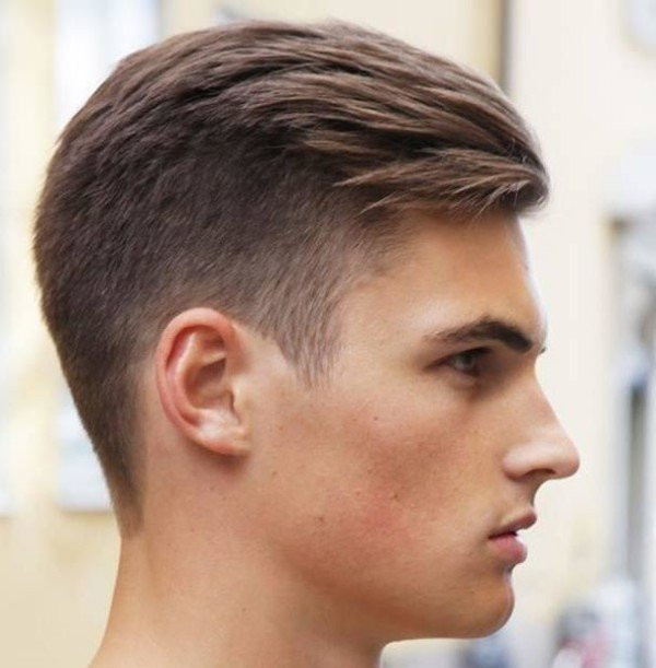 Short Two-Block Hairstyle for Men