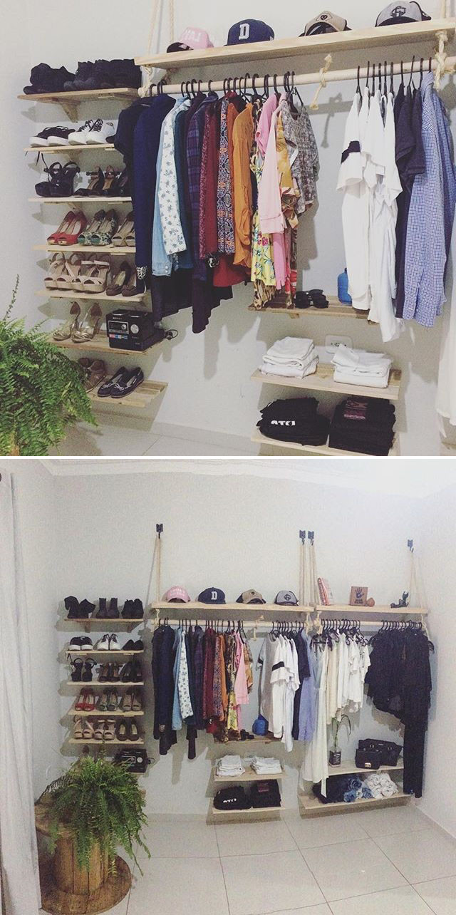 Pallet hanging shelf