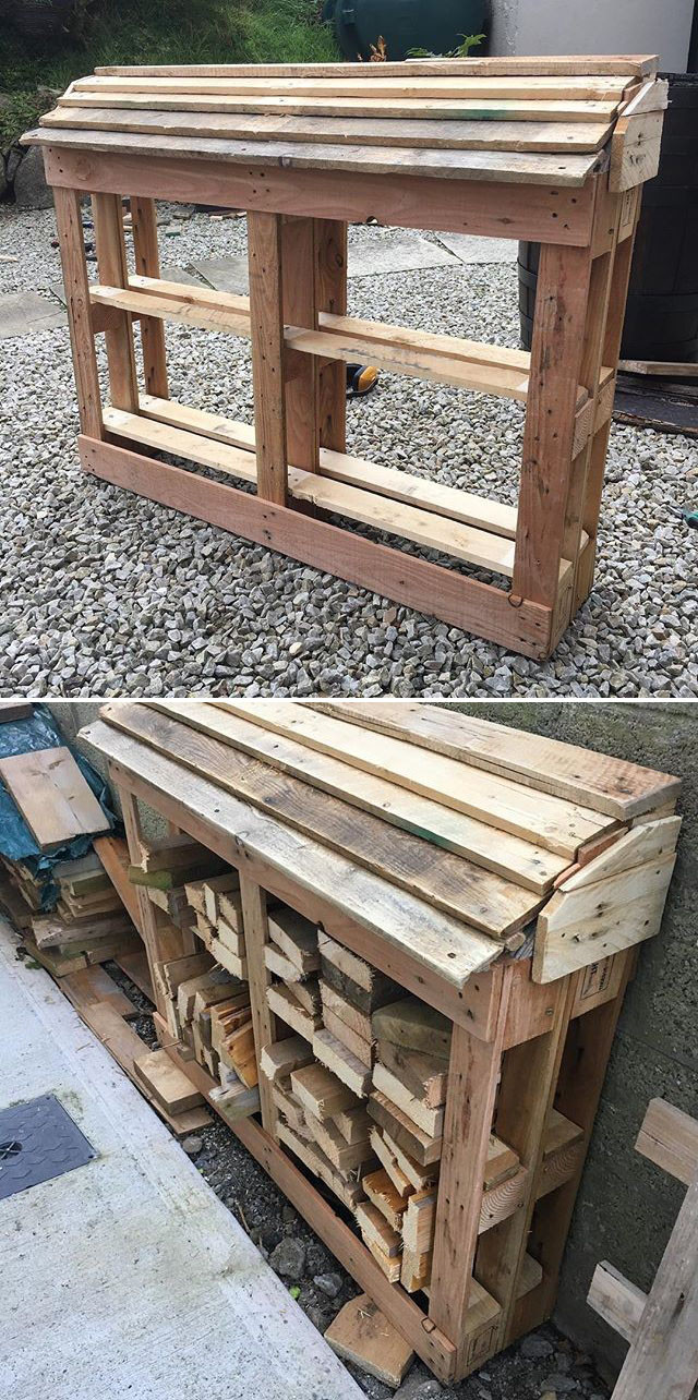 Pallet outdoor cabin for woods