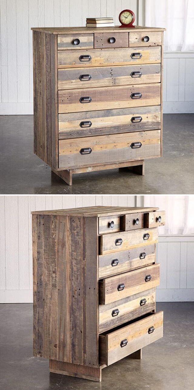 Pallet storage drawers
