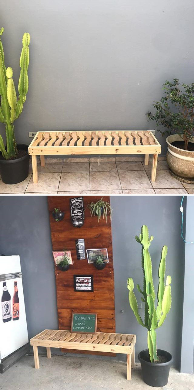 Pallet furniture desk