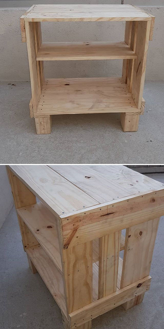 Pallet night stand table