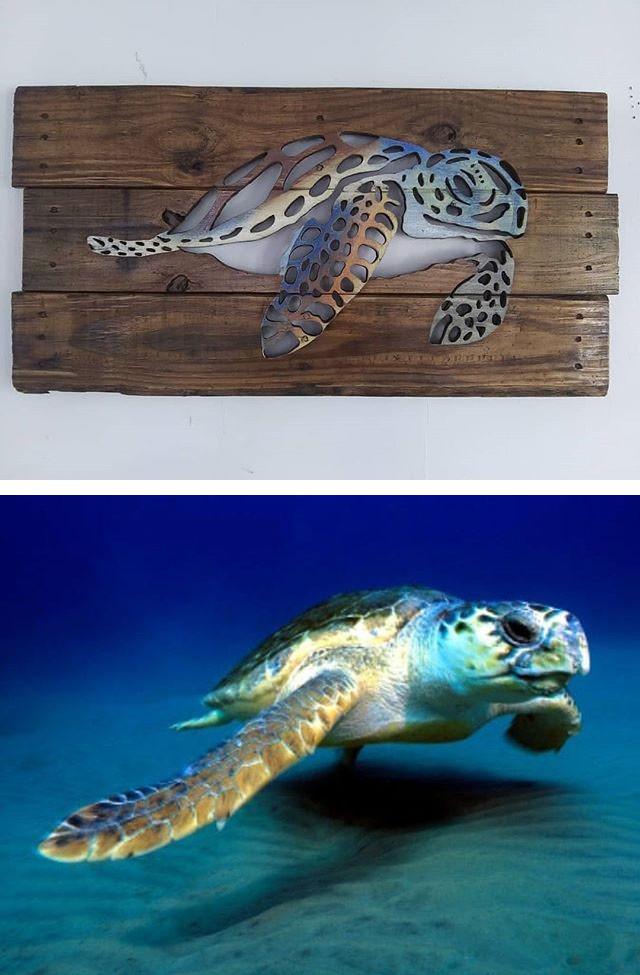 Pallet tortoise wall art
