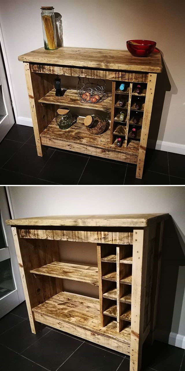 Pallet wine side table