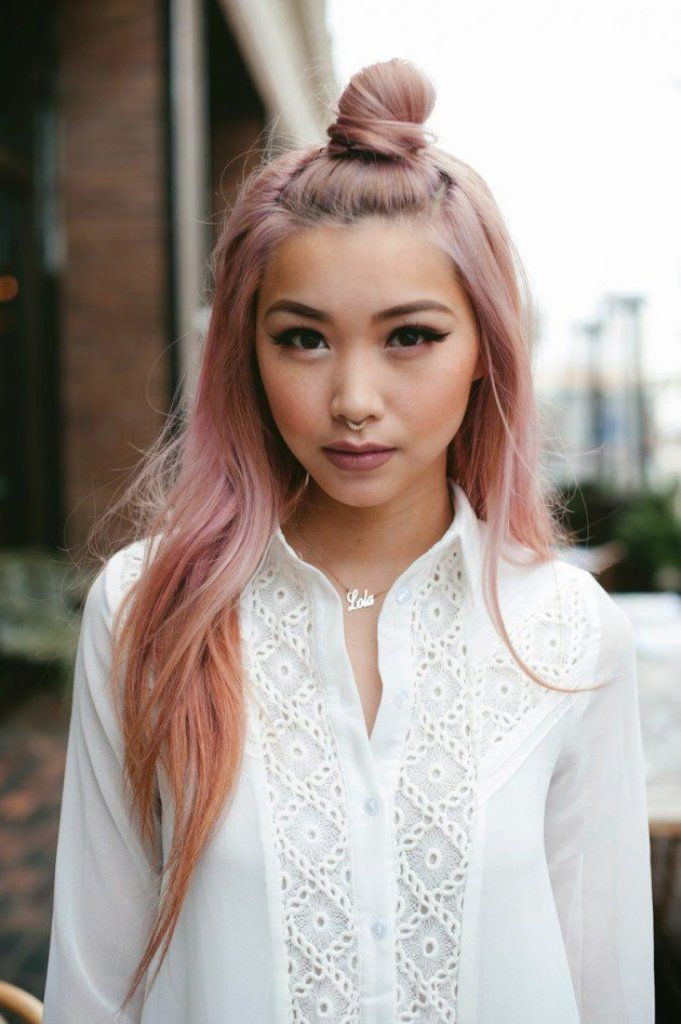 Topknots Asian Hairstyles For Women
