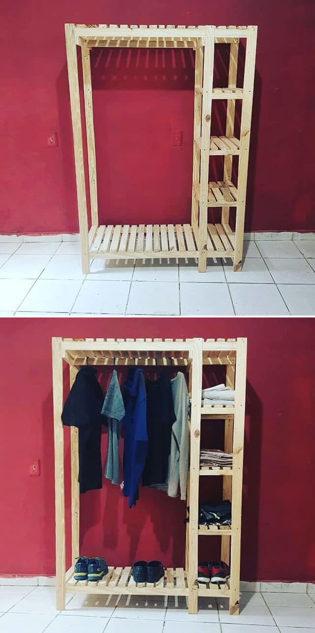 Pallet cloth hanger