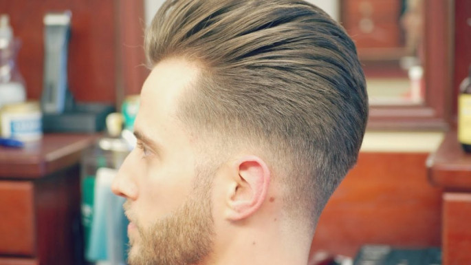Slicked Back Undercut Best Short Hairstyles for Men