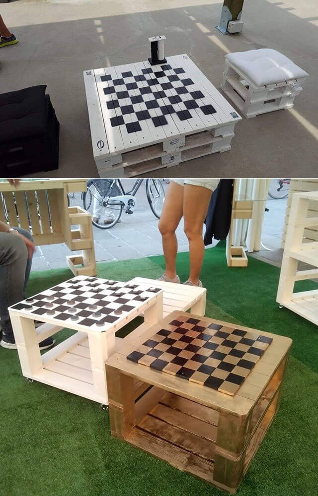 Pallet chess board