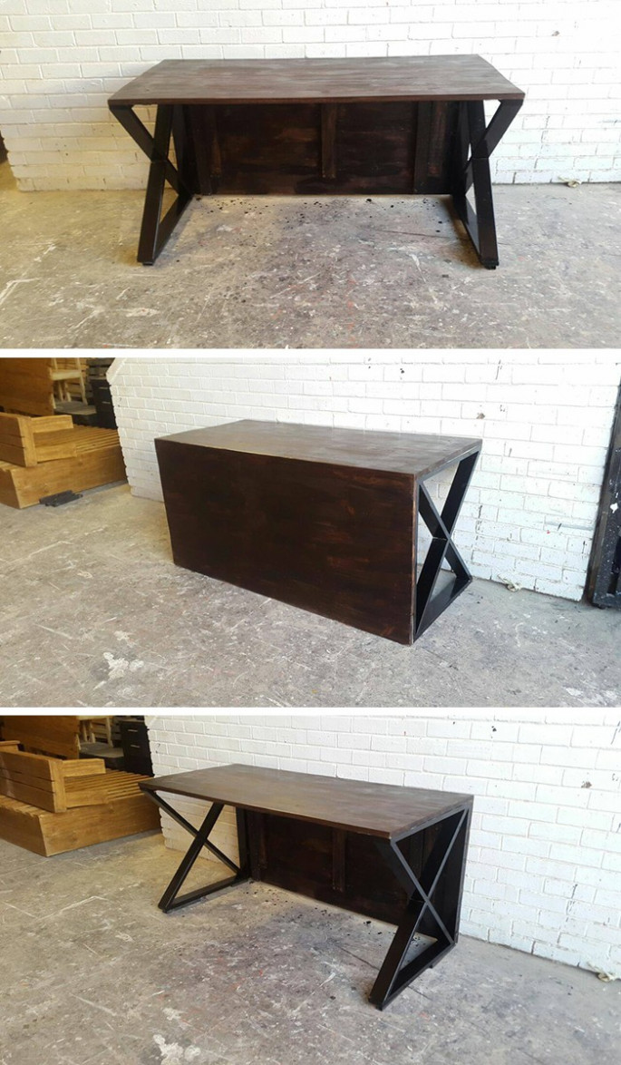 Pallet Side table ideas in black color for office