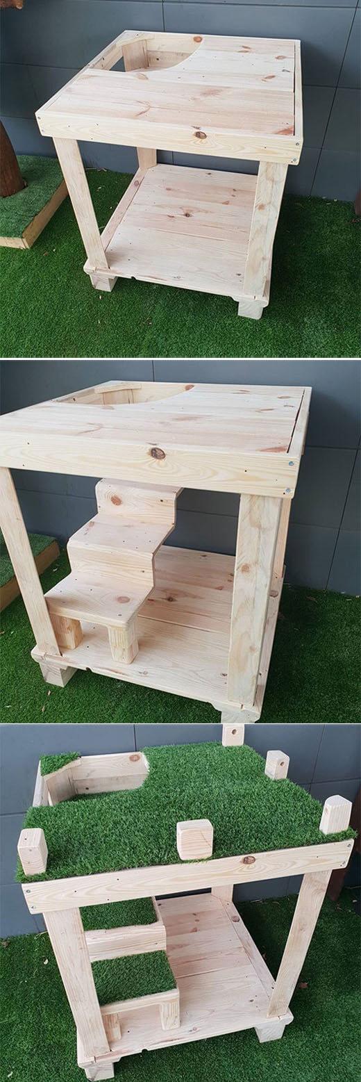 Pallet planter table