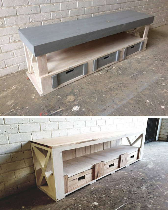 pallet tv stand ideas for wall