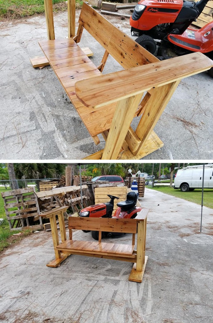 Pallet bench ideas for home