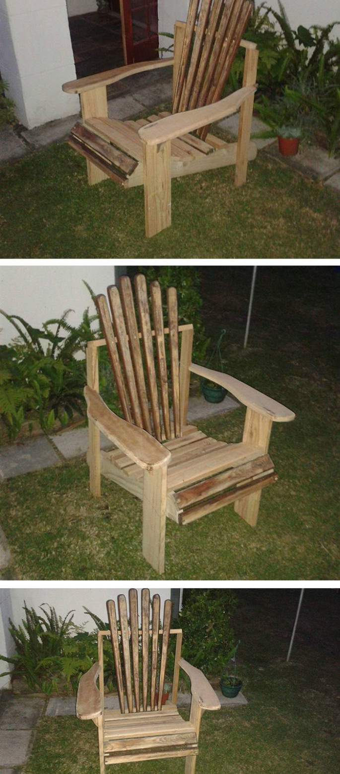 wood pallet chair ideas for garden