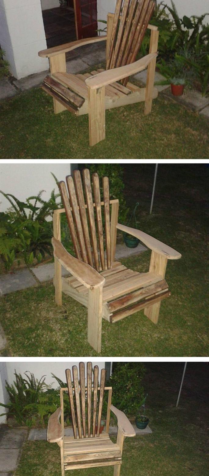 wood pallet chair ideas for garden