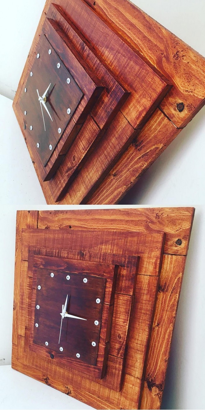 wooden Pallet clock ideas for your home