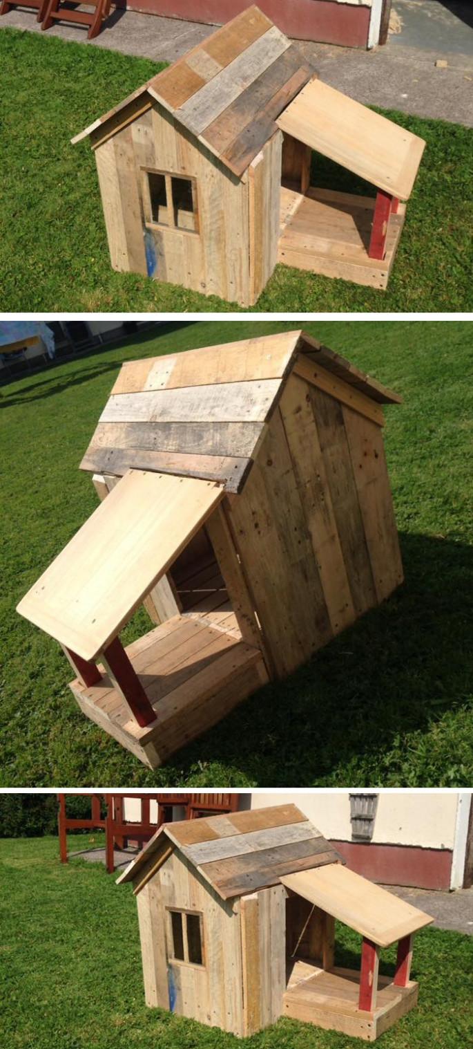 wood pallet house ideas in garden