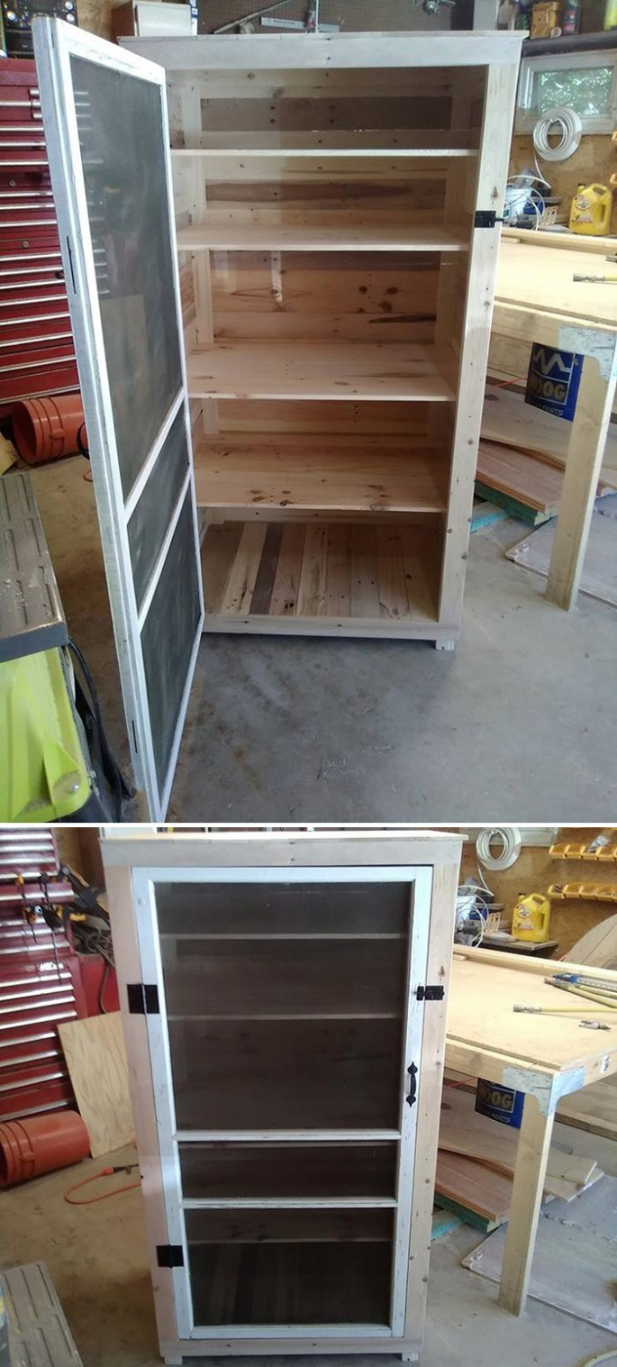 easy to make Pallet storage ideas