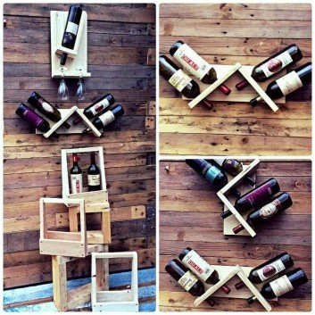 Innovative Pallet Wine Shelf And Storage Ideas on Sensod