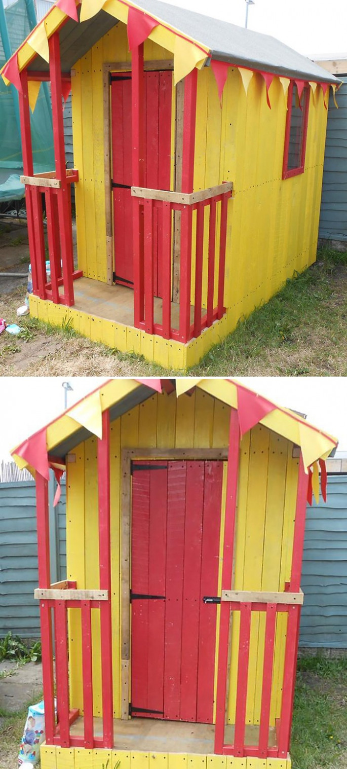 wood pallet house ideas with for kids