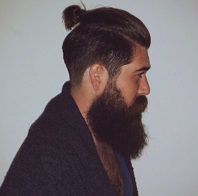 man bun hair length