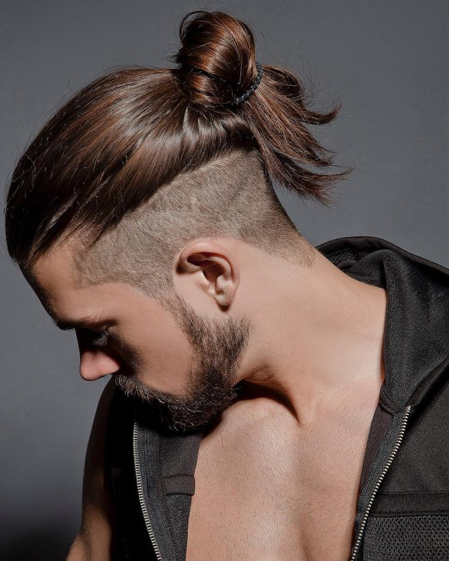growing a man bun stages