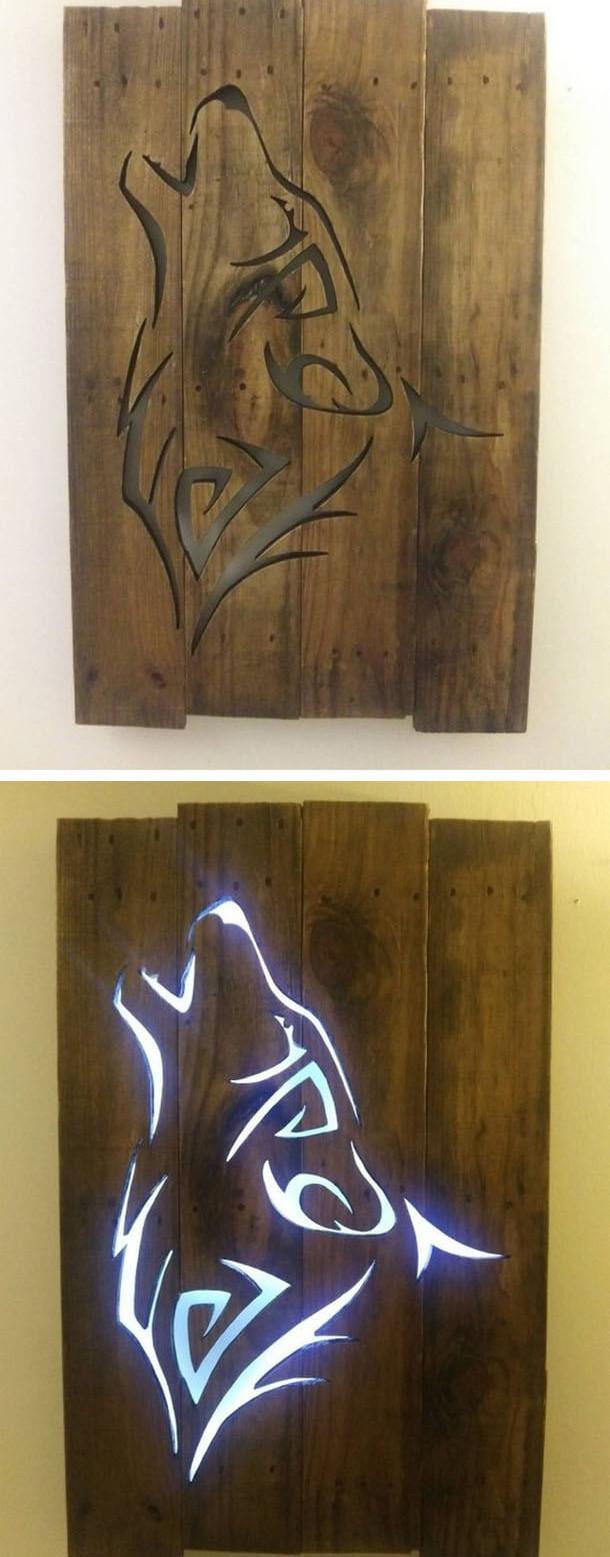 Pallet wold art