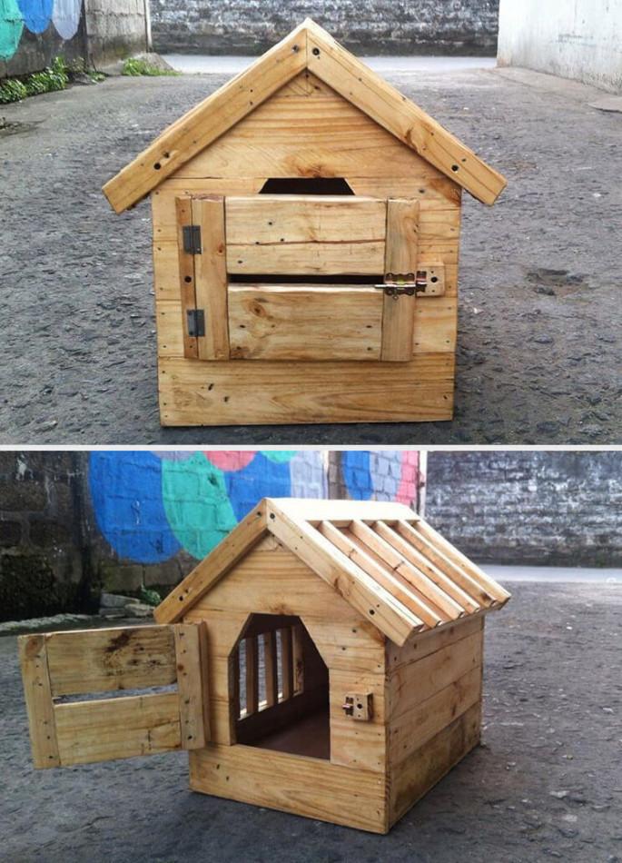DIY Pallet Pet house Ideas