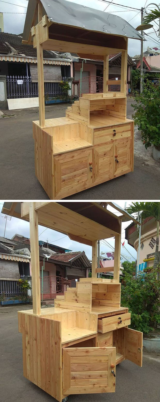 Pallet stall cabinets