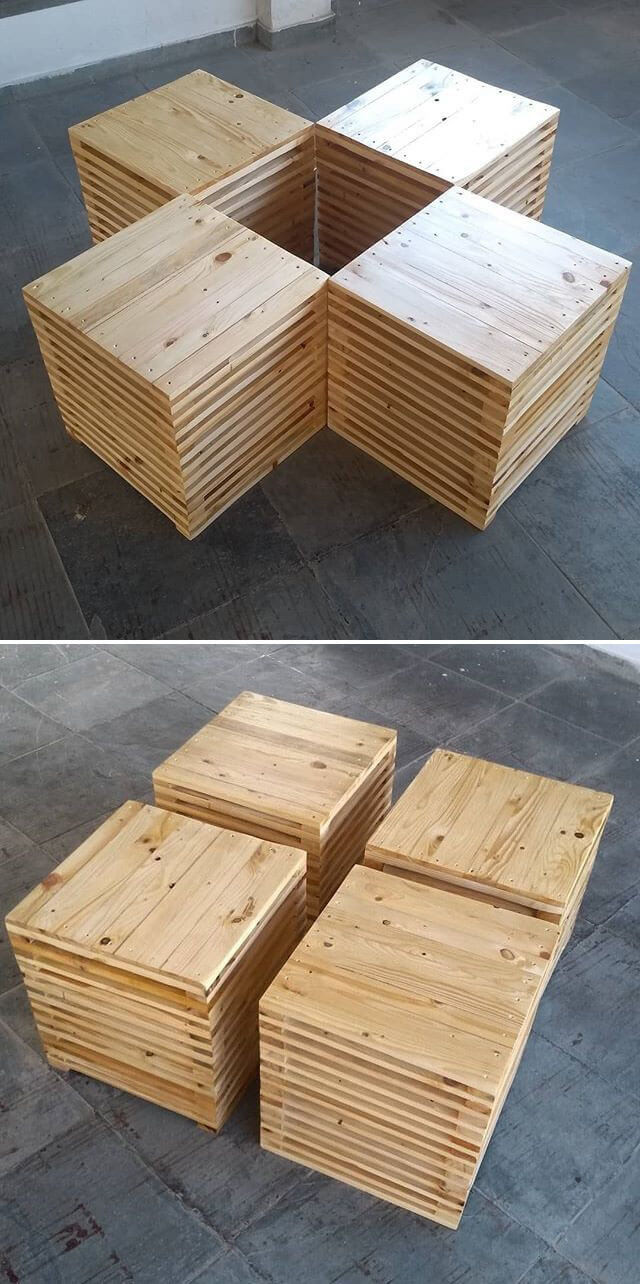 Pallet stool ideas