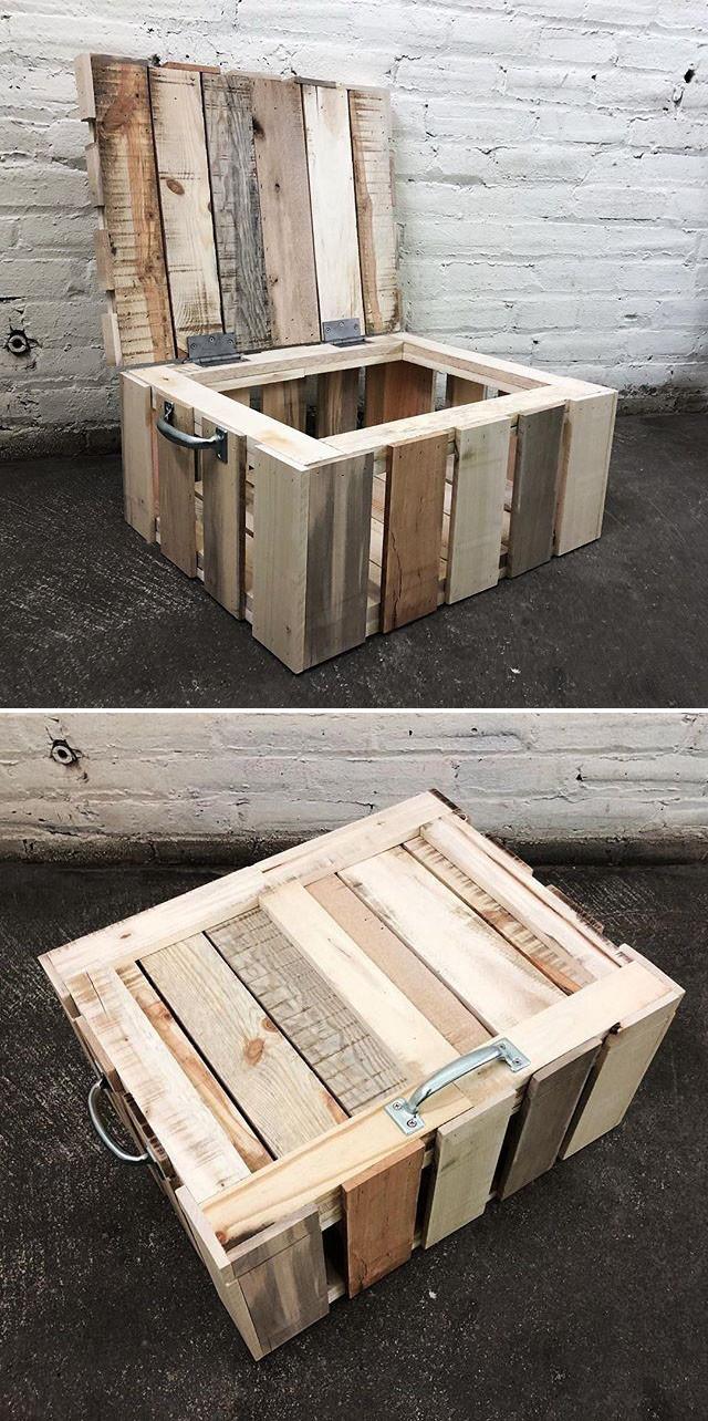 Pallet storage crate