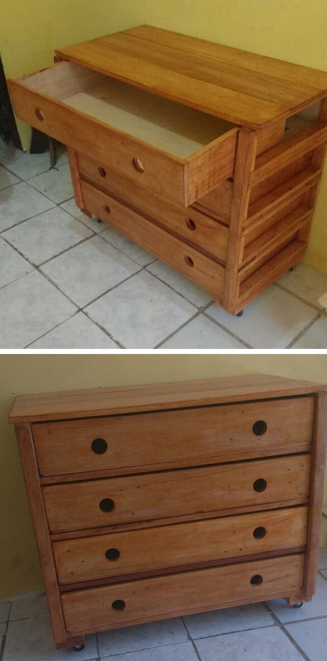 Pallet cabinets with drawers