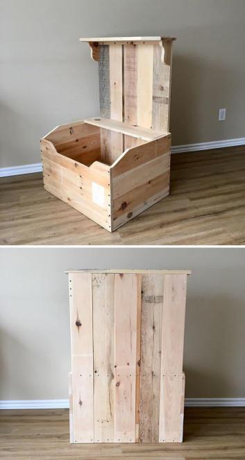 Pallet toy box