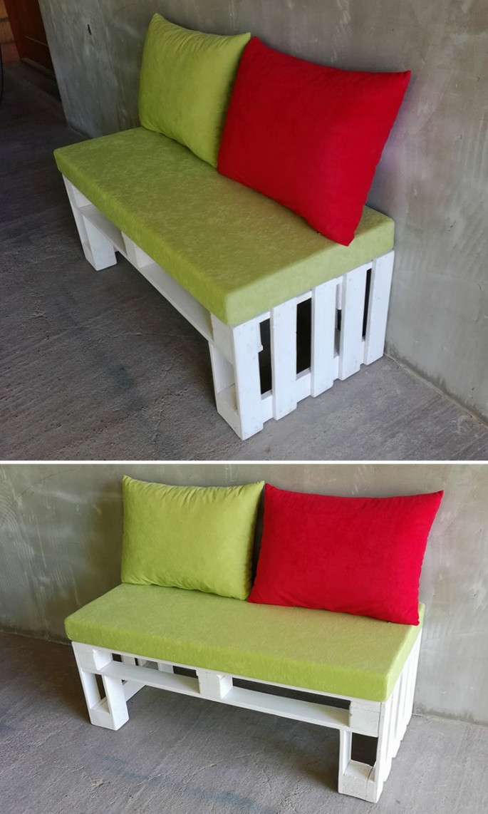 pallet side sofa ideas for outdoor