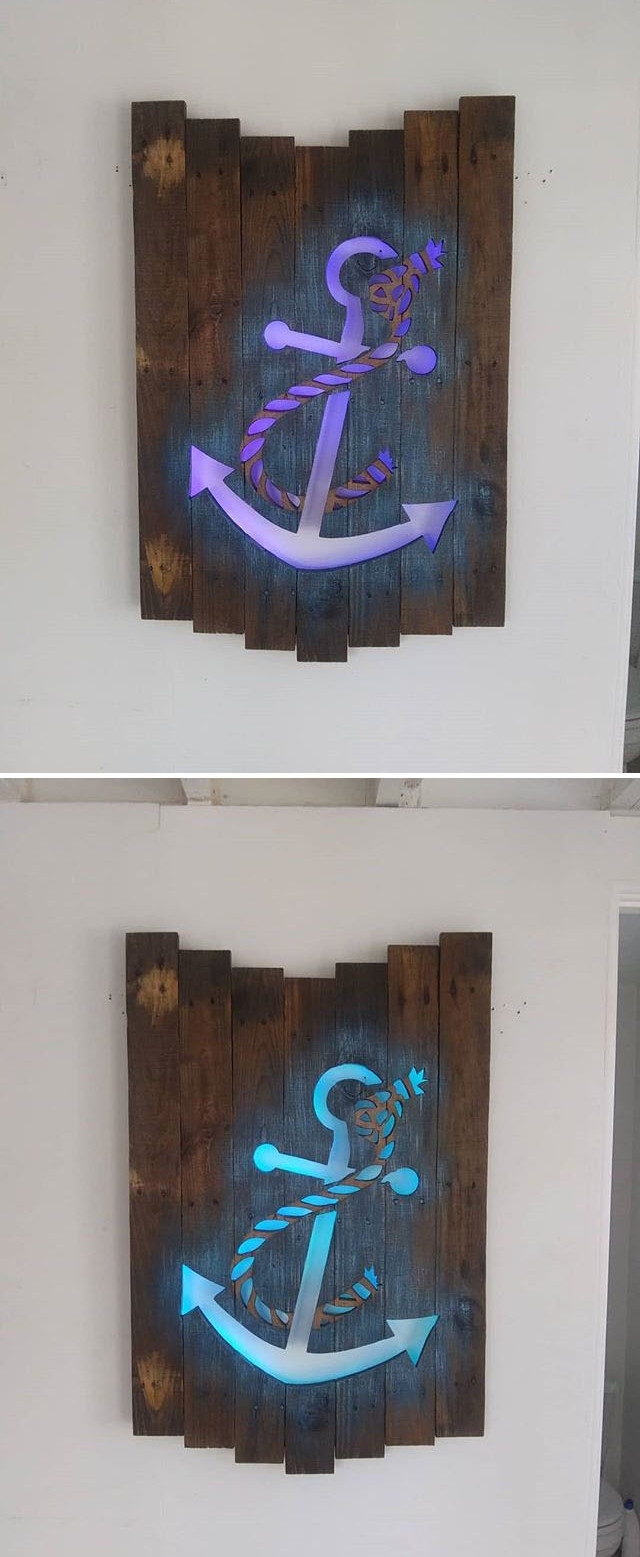 Pallet glowing anchor art