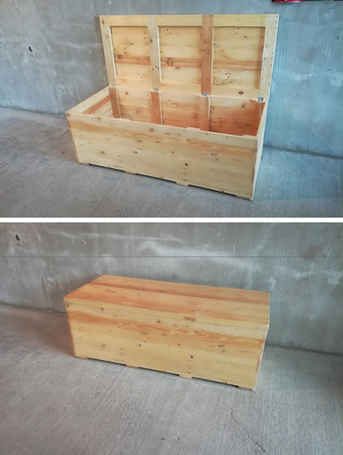 Pallet storage boxes ideas for your outdoor house