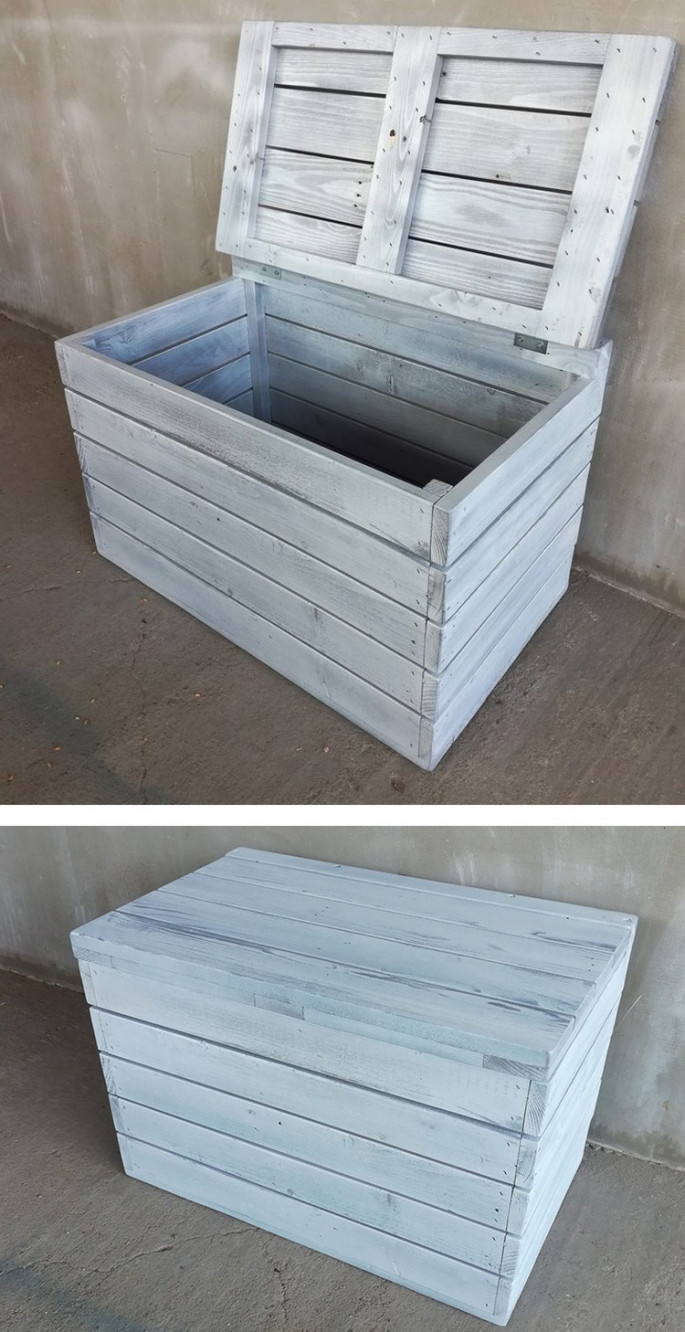 Pallet storage boxes ideas for your garden
