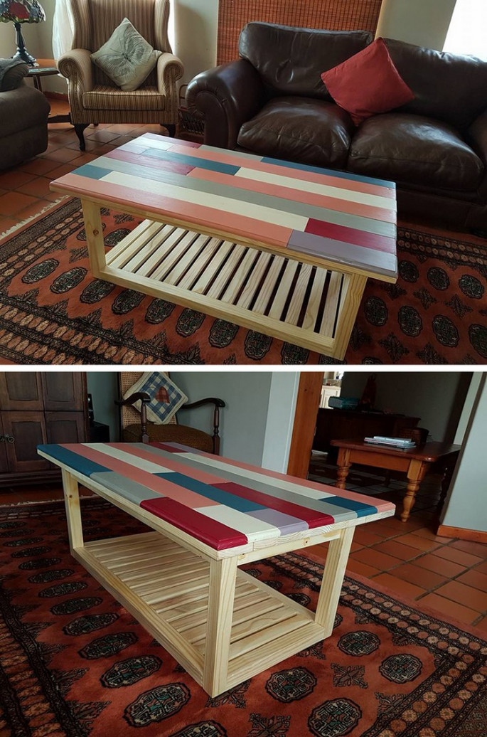 Pallet coffee table ideas for drawing room