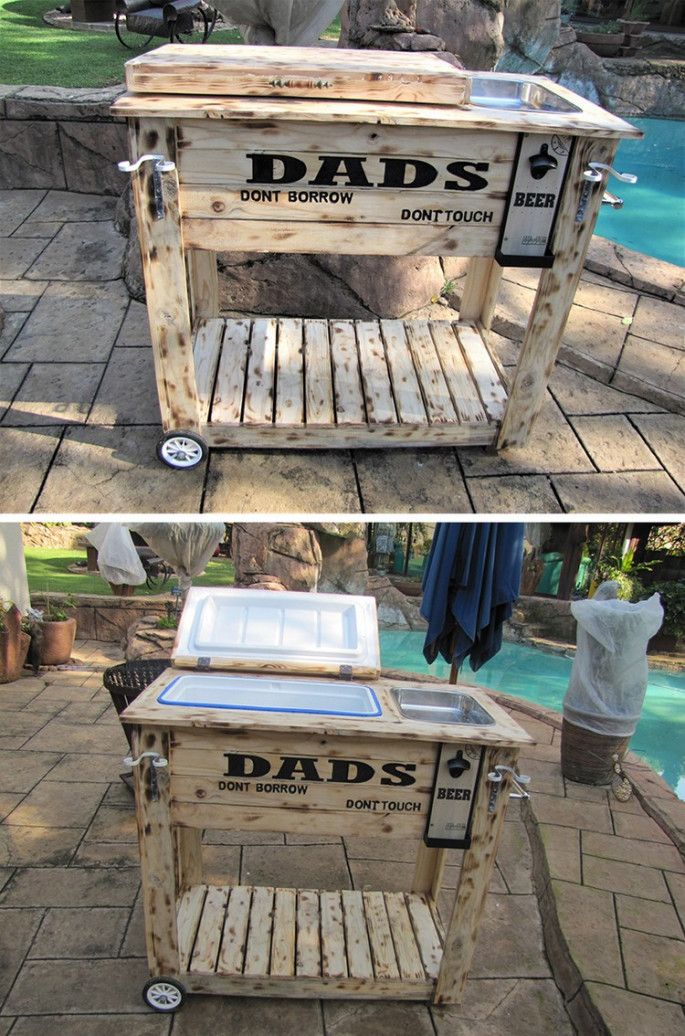 pallet bar table ideas for outdoor pool
