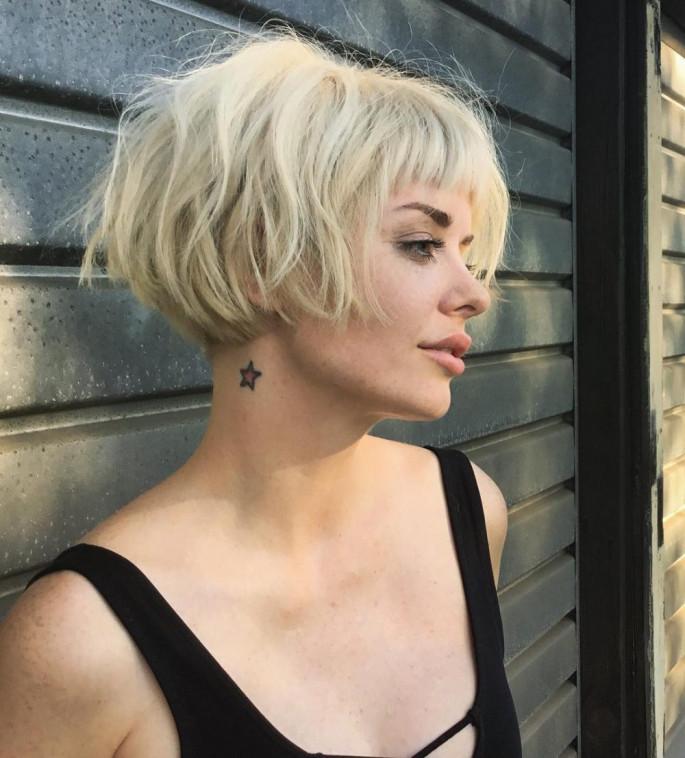 Blonde Bob Cut Short Hairstyles Ideas for Women