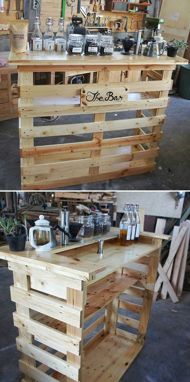 Pallet rustic bar