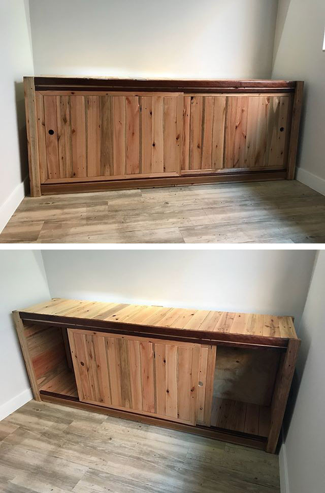 Pallet side cabinet