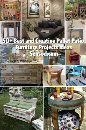 50+ Best and Creative Pallet Patio Furniture Projects ideas