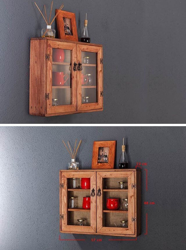 Pallet kitchen wall cabinet
