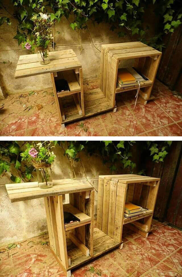 Pallet outdoor study table