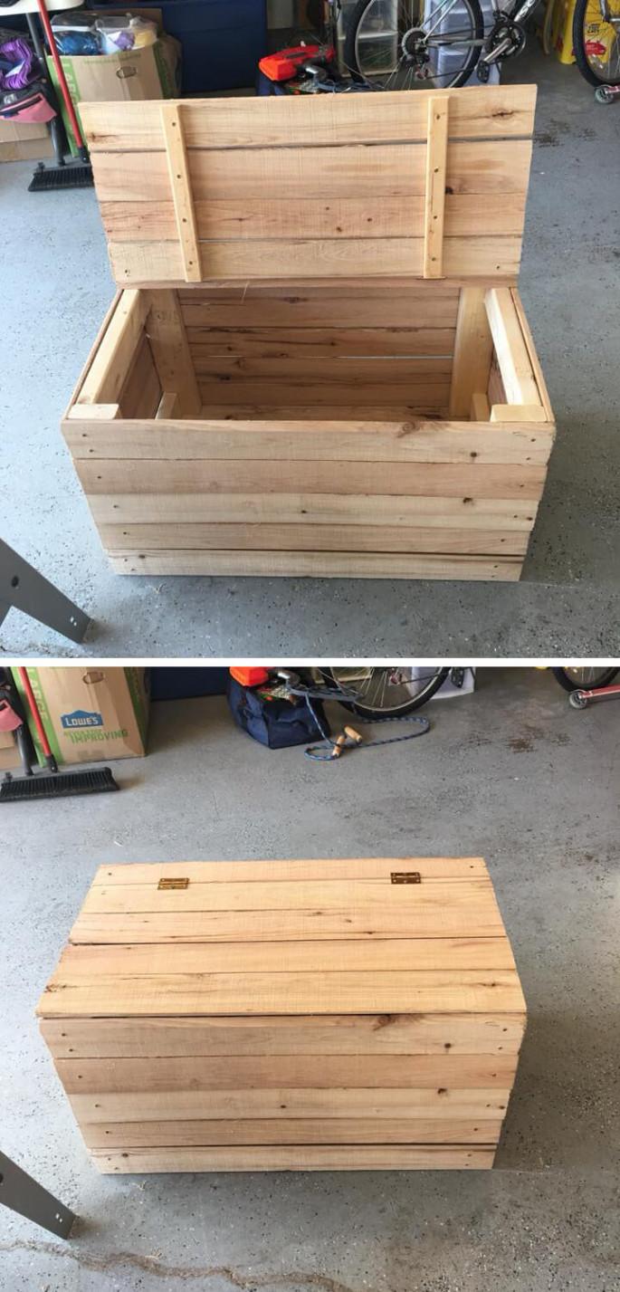 wooden pallet storage box ideas