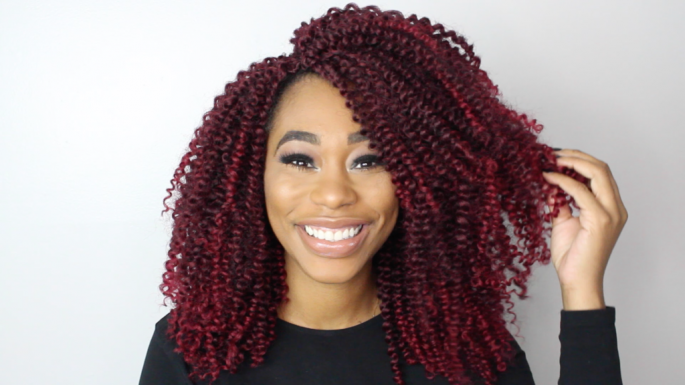 Curly Layered Crochet Braid Hairstyles for Women